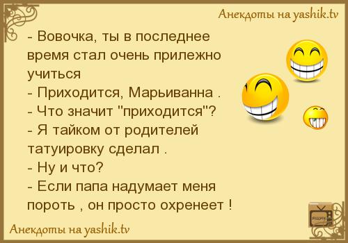 Анекдоты Про Вовочку Новые